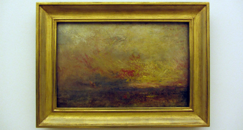 Schilderij Joseph Mallord William Turner, bijna abstract