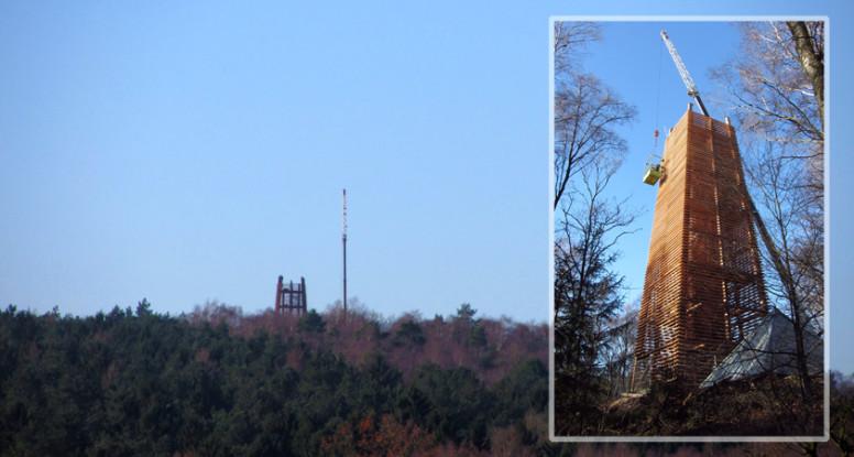 Uitkijktoren op Hulzenberg in Montferland in aanbouw,