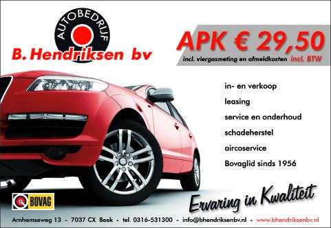 Garagebedrijf B. Hendriksen bv - advertentie