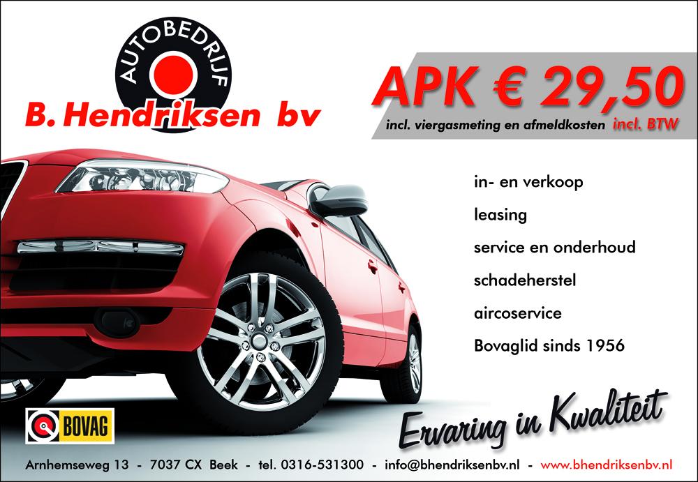 Garagebedrijf B. Hendriksen bv – advertentie