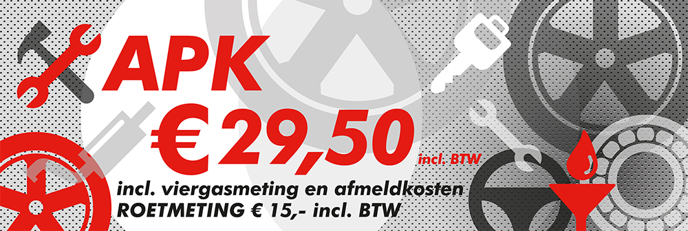 Garagebedrijf B. Hendriksen bv – spandoek APK