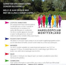 Hardloopclub Montferland - flyer A5 - achterzijde