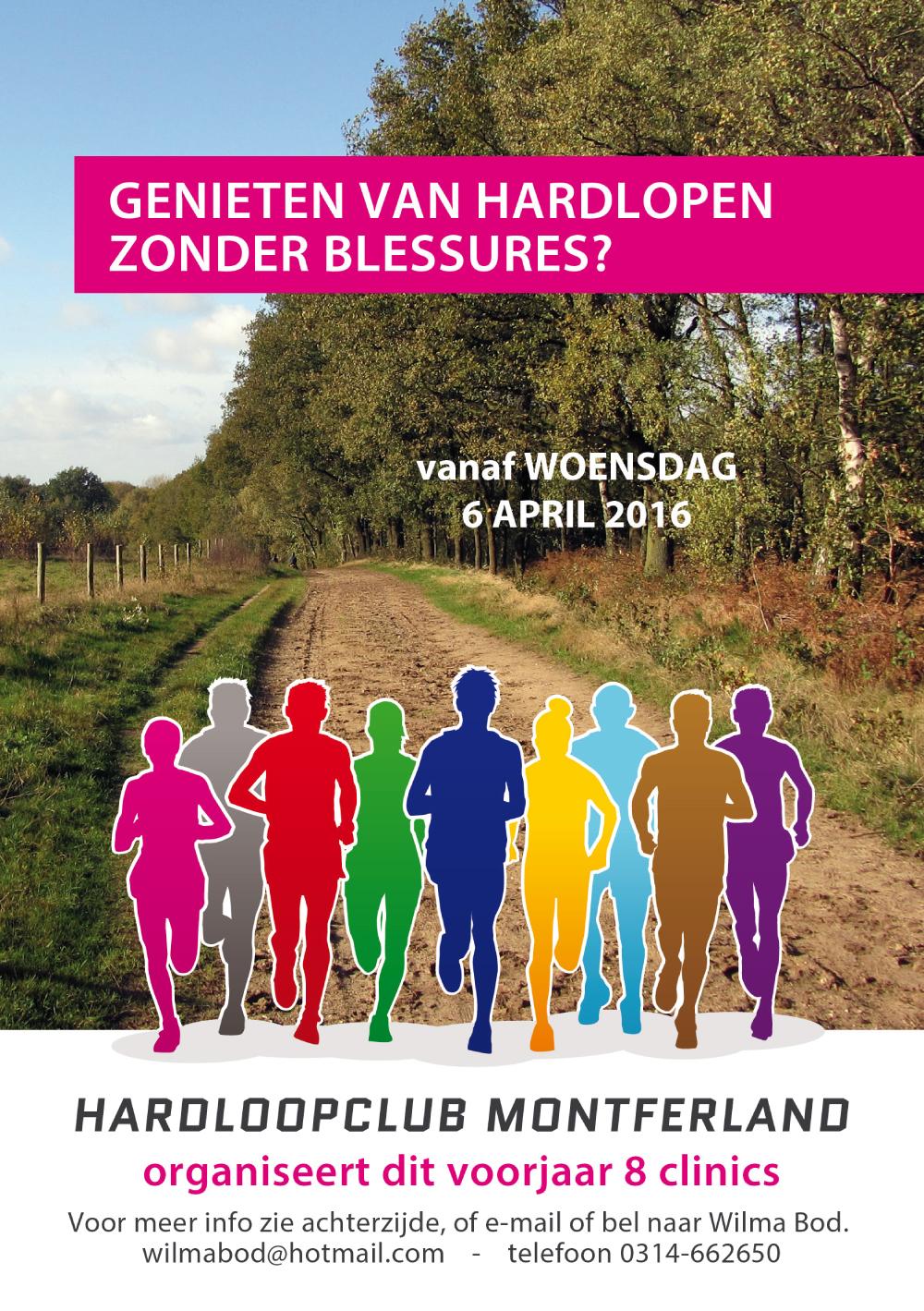 Hardloopclub Montferland – flyer A5 – voorzijde