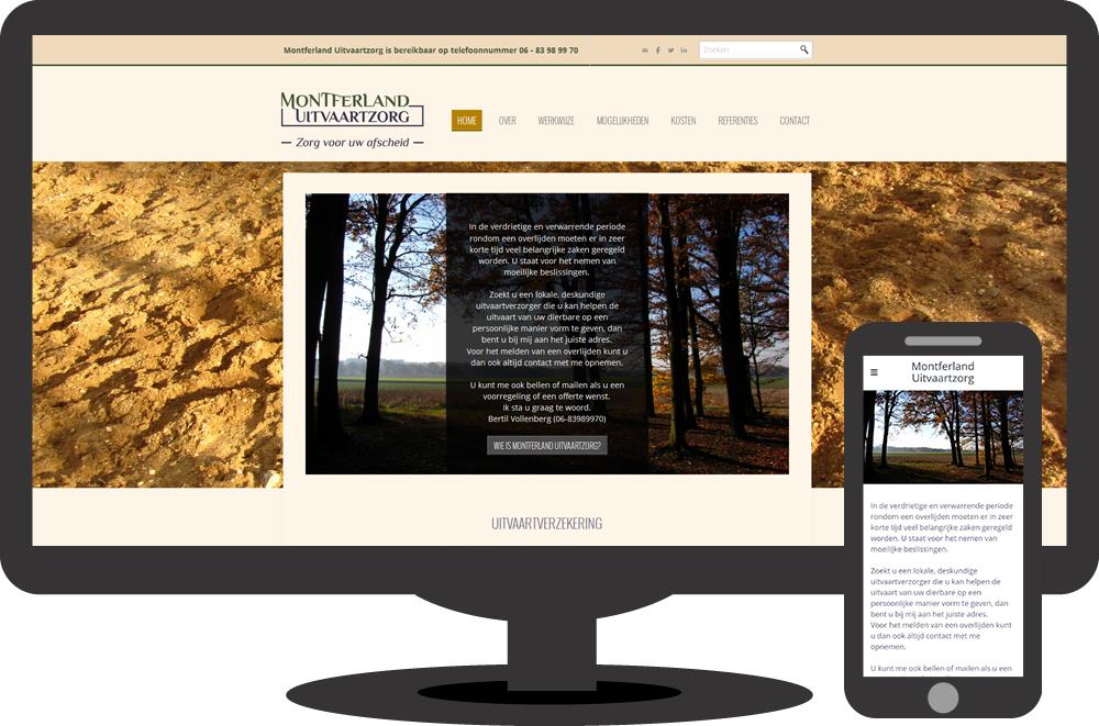 Montferland Uitvaartzorg - website