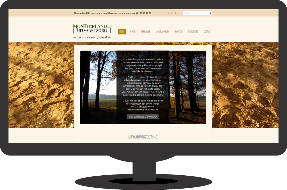 Montferland Uitvaartzorg – website
