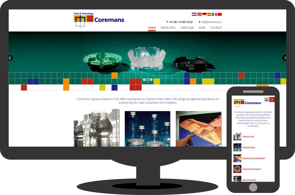 Coremans - website