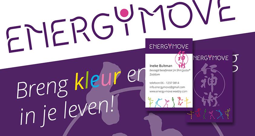 Energy Move – blog – huisstijl en flyer