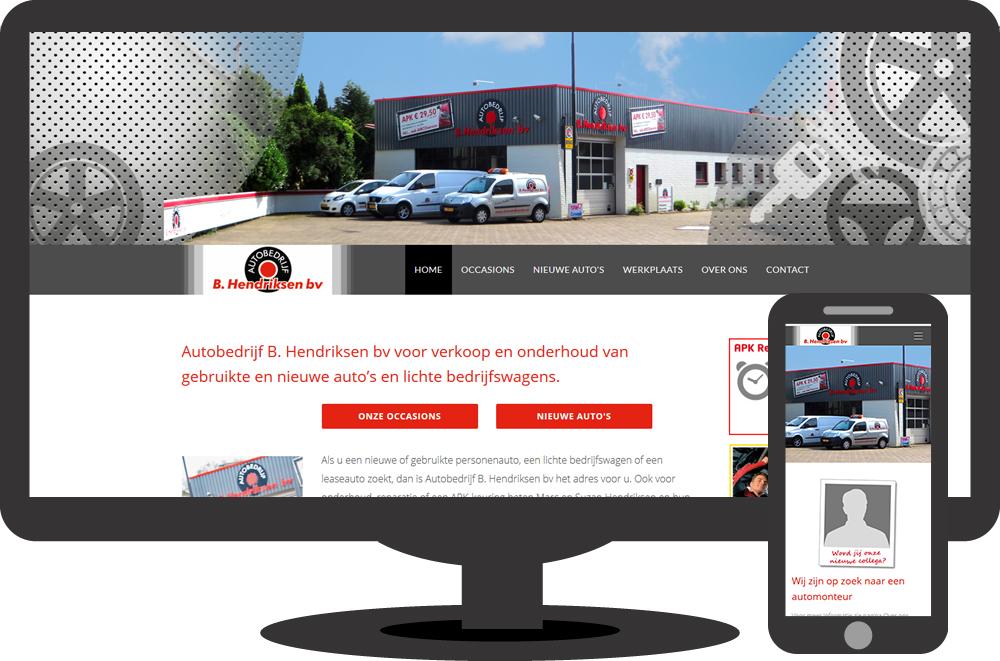Garagebedrijf B. Hendriksen bv - website