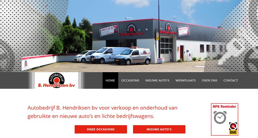 website Garagebedrijf B. Hendriksen bv – blog
