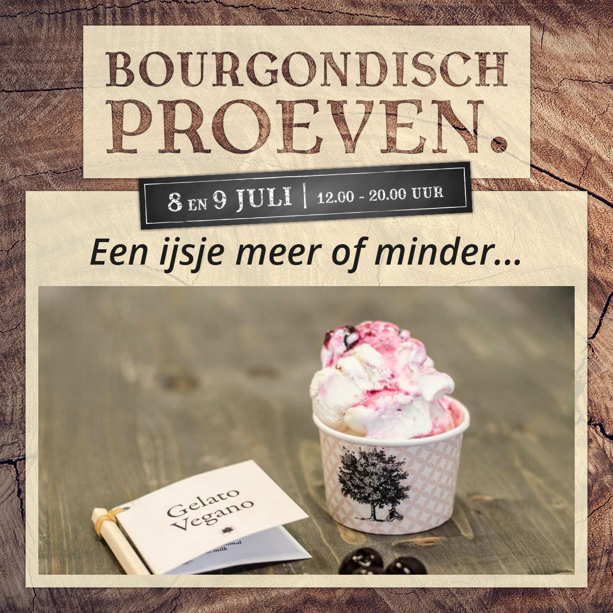 De Bourgondiër – Bourgondisch Proeven. – Facebookbericht – Een-ijsje-meer-of-minder…