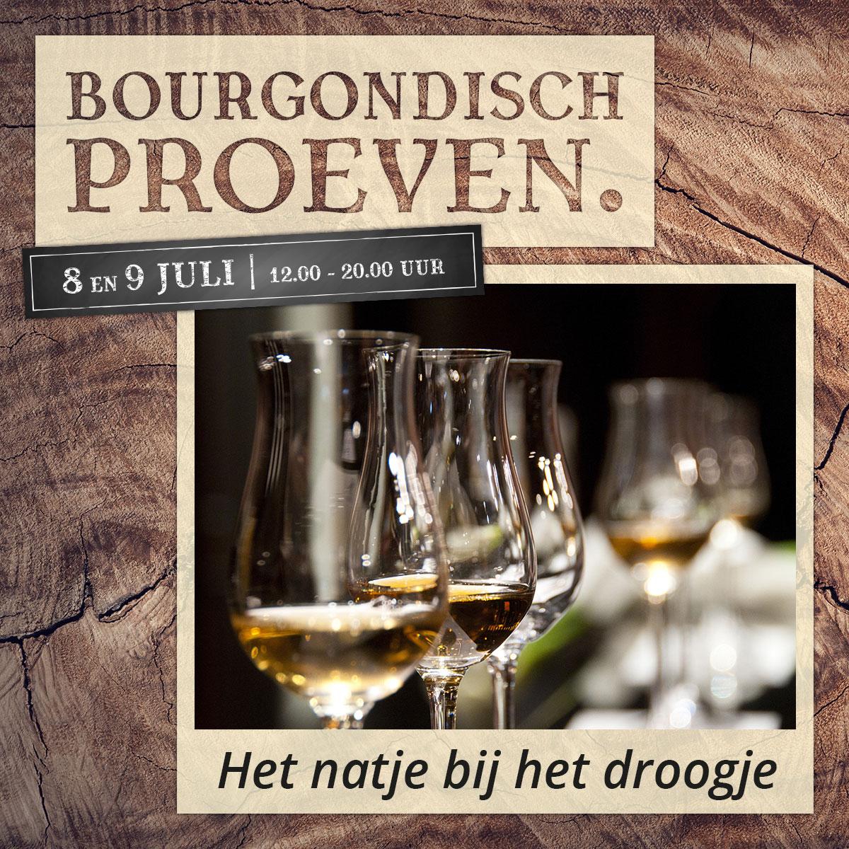 De Bourgondiër – Bourgondisch Proeven. – Facebookbericht – Het-natje-bij-het-droogje