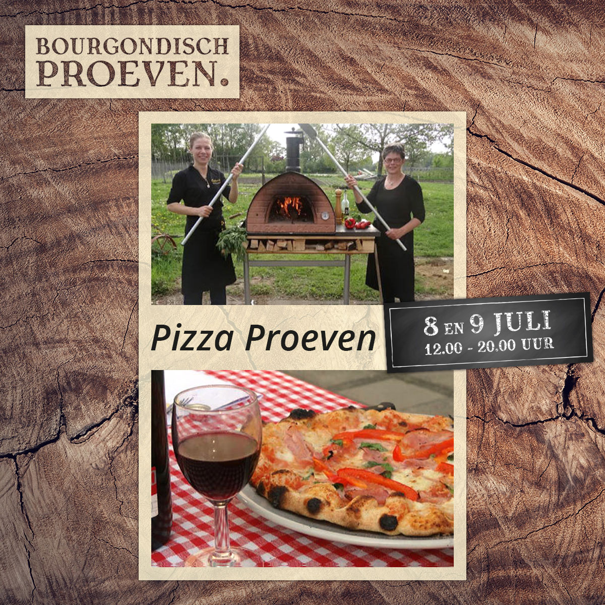 De Bourgondiër – Bourgondisch Proeven. – Facebookbericht – Pizza-Proeven