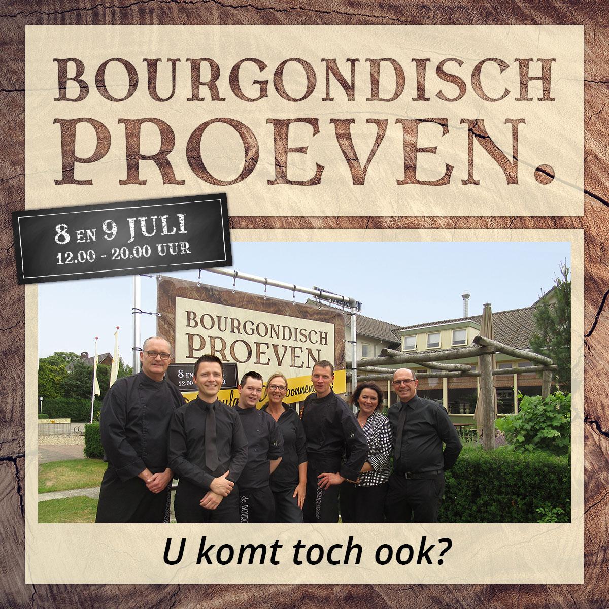 De Bourgondiër – Bourgondisch Proeven. – Facebookbericht – U-komt-toch-ook