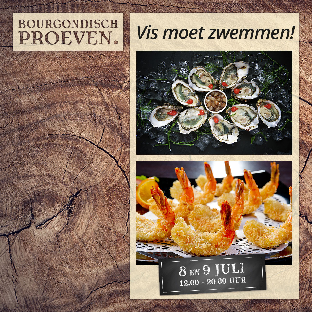De Bourgondiër – Bourgondisch Proeven. – Facebookbericht – Vis-moet-zwemmen
