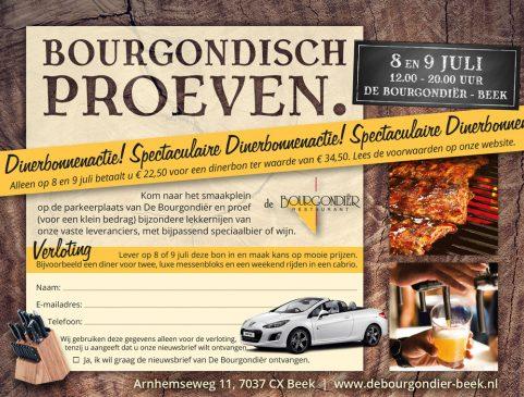 De Bourgondiër - Bourgondisch Proeven. advertentie 140x106mm