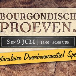 De Bourgondiër - Bourgondisch Proeven. - autobelettering - 140x56cm