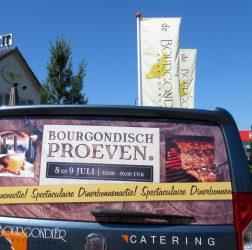 De Bourgondiër - Bourgondisch Proeven. - autobelettering - foto