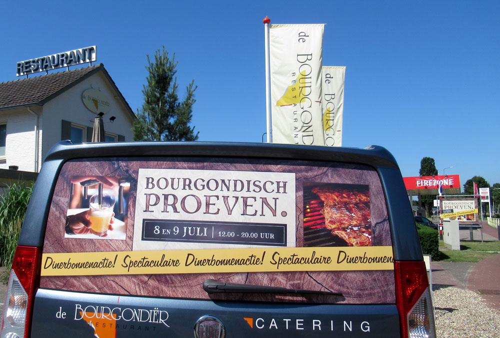 De Bourgondiër – Bourgondisch Proeven. – autobelettering – foto