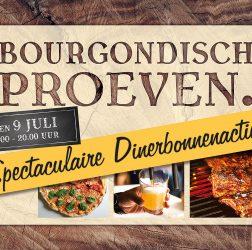 De Bourgondiër - Bourgondisch Proeven. - spandoek 180x135 cm