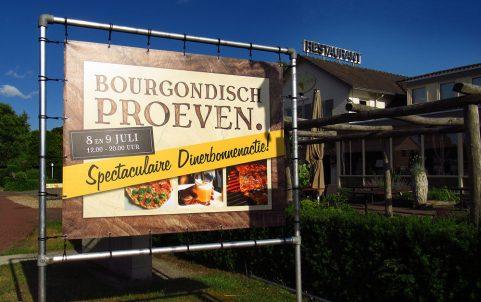 De Bourgondiër - Bourgondisch Proeven. - spandoek foto