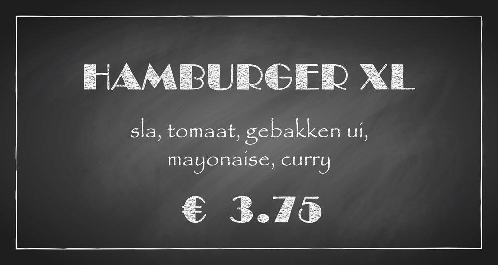 De Bourgondiër – krijtbord – prijsbordje 30x16cm – 5