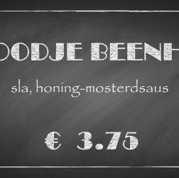 De Bourgondiër - krijtbord - prijsbordje 30x16cm - 6