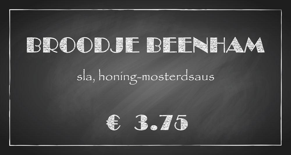 De Bourgondiër – krijtbord – prijsbordje 30x16cm – 6