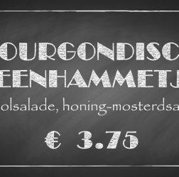 De Bourgondiër - krijtbord - prijsbordje 30x16cm - 7