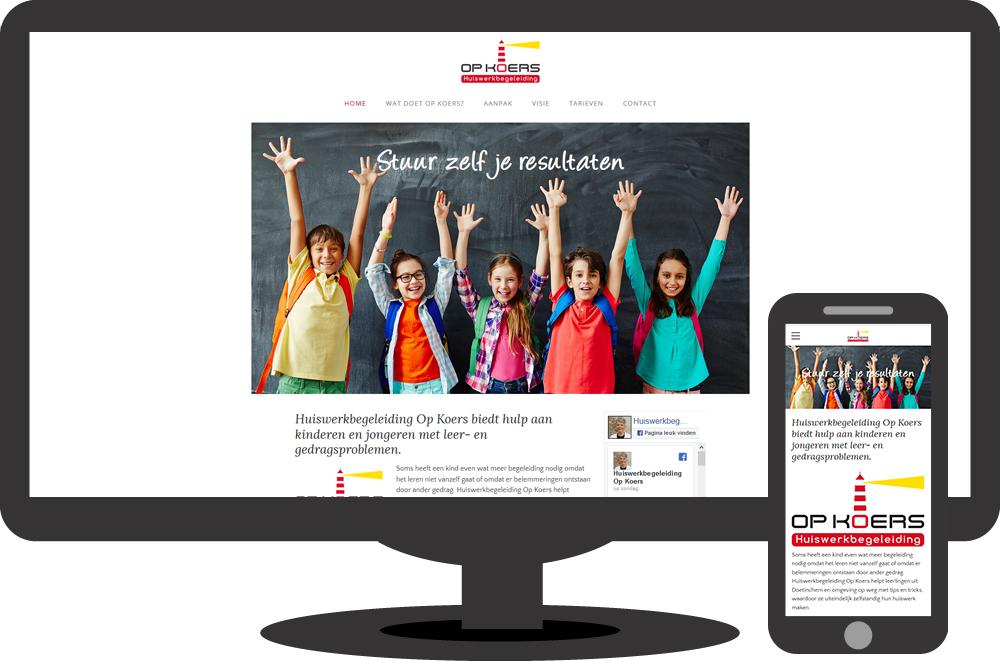 Huiswerkbegeleiding Op Koers - website