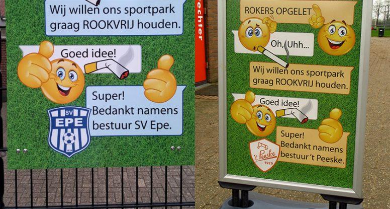 SV Epe bord Sportpark Rookvrij