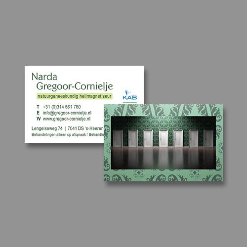 Narda Gregoor-Cornielje – visitekaartje