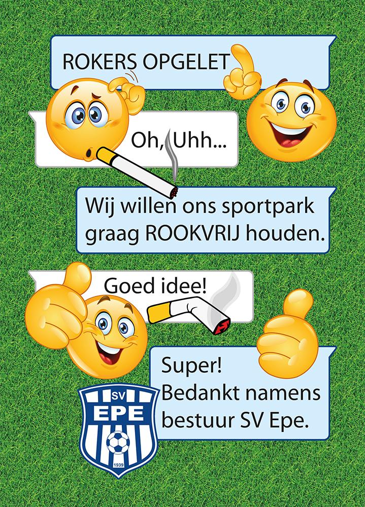 S.V. Epe - bord Sportpark Rookvrij