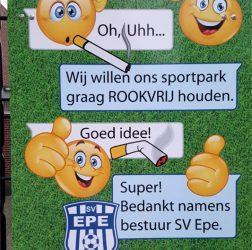 SV Epe - bord Sportpark Rookvrij