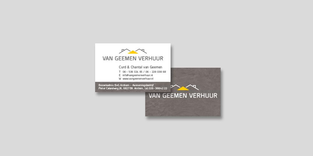 Van Geemen Verhuur – visitekaartje