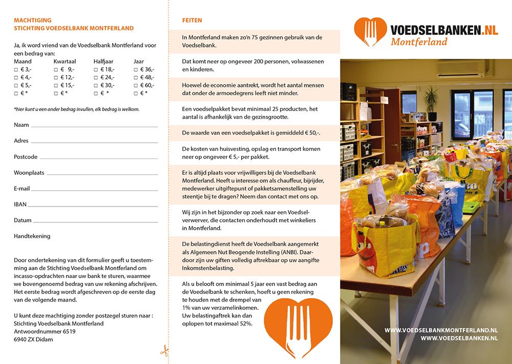 Voedselbank Montferland – folder – buitenzijde