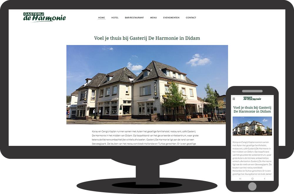 Gasterij De Harmonie - website