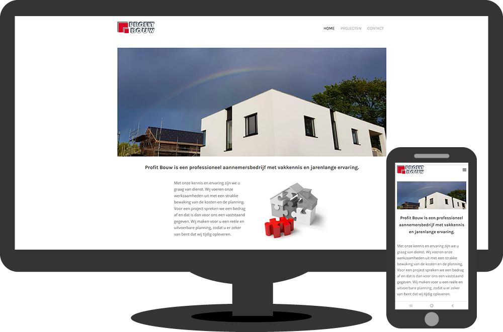 Profit Bouw - website