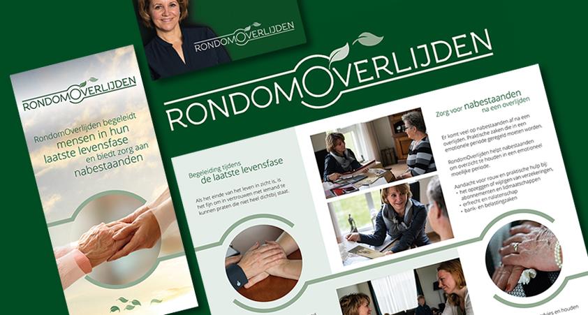 RondomOverlijden – logo-  website – folder – visitekaartje